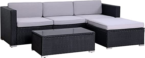 POLY RATTAN Lounge California Gartenset Sofa Garnitur Polyrattan Gartenmöbel Farbwahl