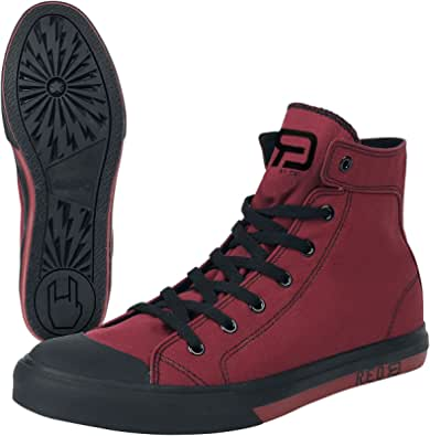 RED by EMP Walk The Line Baskets montantes unisexe Noir/blanc Basics, rockabilly, streetwear