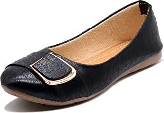 Midsole Women's Party Wear Embellish Buckle Casual Bellies- (FT5001C)