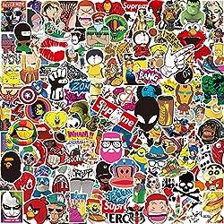 Aufkleber Pack [150-PCS], Q-Window Graffiti Decal Vinyl Stickers für Koffer Laptop Skateboard Kinder Auto Motorrad Fahrrad Snowboard IPhone Xbox One Nintendo Bomb Comic Aufkleber Sticker Wasserdicht