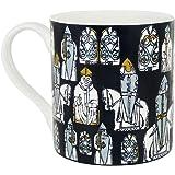 The Lewis Chessmen - DECORATIVE CERAMIC MUG - Black, White, Grey - 300ml