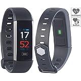 Newgen Medicals Fitnesstracker: Fitness-Armband mit Farbdisplay, Blutdruck-Anzeige, Bluetooth, IP67 (Fitnessarmbänder)