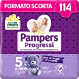 Pampers Progressi Junior 114 Couches, Taille 5 (11-25 kg)
