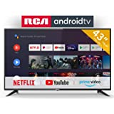 RCA RS43F2 Android TV (43 Pouces Full HD Smart TV avec Google Assistant), Chromecast intégré, HDMI, USB, WiFi, Bluetooth…