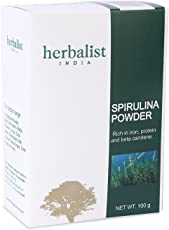 Herbalist's Spirulina powder - Purest source of Spirulina 100% Organnic Ingredients- 100 gms