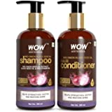 WOW Skin Science Red Onion Black Seed Oil Shampoo & Conditioner Kit With Red Onion Seed Oil Extract, Black Seed Oil…