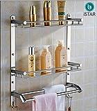 iSTAR Multi use Rack Stainless Steel Bathroom Shelf/Kitchen Shelf/Bathroom Shelf and Rack/Bathroom Accessories