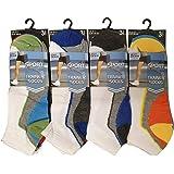 12 Pairs Mens Trainer Socks Fresh Feel Cotton Rich Blend Ankle Invis Socks Pack