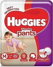 Huggies Wonder Pants Diapers, Medium (Pack of 20)