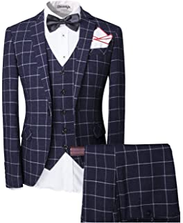 Cloudstyle Haut de costume trois-pièces veste +gilet +pantalon affaires  décontraction mariage et 77a3d208b0d