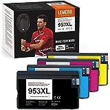 4 LEMERO SUPERX 953XL compatibile con cartucce d'inchiostro HP 953XL per HP Officejet 8702 7720 7730WF Pro 8210 8211 8218 871