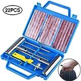 Faburo 9pcs Kit per Riparazione Pneumatici, Moto Kit Ripara Pneumatici Gomme Professional Kit di Riparazione per…