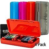 Nintendo Switch boite de jeux - Orzly Pack de 4 boitiers de jeux pour une Capacité de 16 jeux. « Pocket Friendly » Étui de Ra