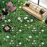 Wallpaper Experten Custom Stock Malerei Wand Papier Pflanzen Blumen Gras Grün Wiese 3D Wandbilder Bodenbeläge Pvc Wasserdicht Boden Tapeten Dekoration 200cmX140cm(78.7 by 55.1 in )