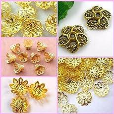 Am Fancy Flower Bead Caps For Silk Thread Jewellery Making