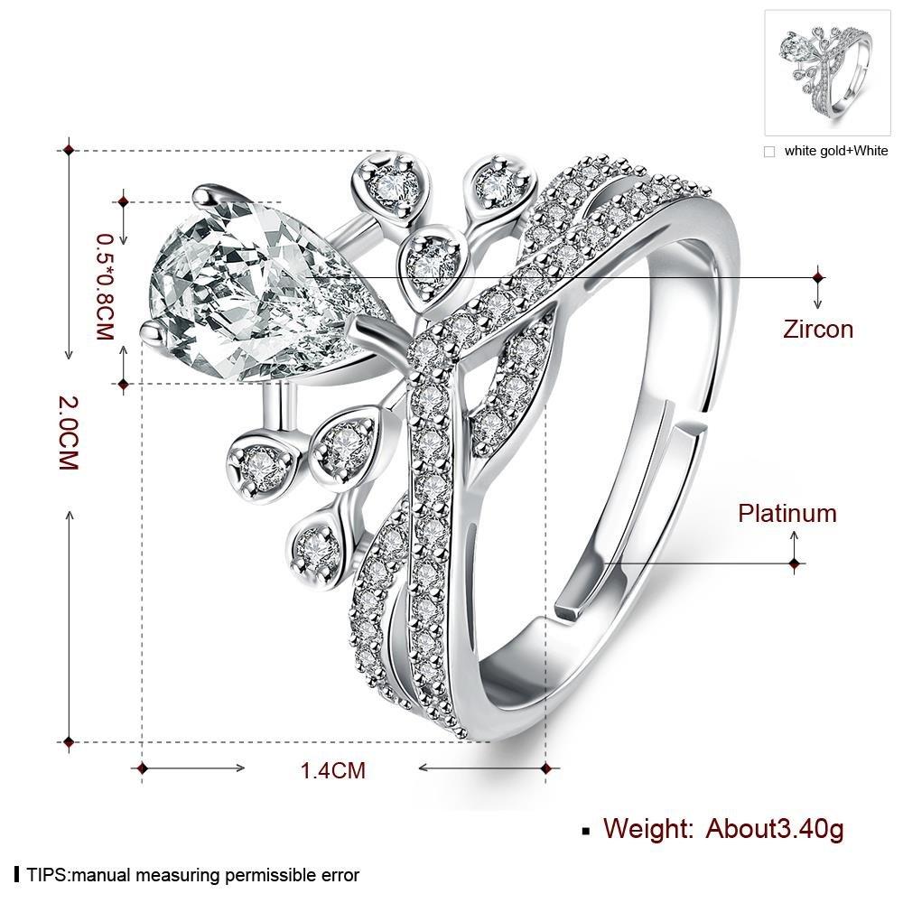 Categoria Huang Xiaoming Anello Di Nozze Anello Nobile Gocce D'Acqua Anello , platino e bianco , reg