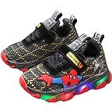 WEIR Sneakers LED per Bambini Spiderman Scarpe da Ginnastica Lampeggianti Scarpe da Corsa Traspiranti in Rete per Bambini