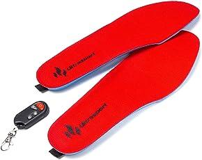 LanXI Schuhheizung Deluxe – kabellose, beheizbare Thermosohle, Einlegsohlen mit Akkubetrieb und Funkfernbedienung, Verschiedene Größen, wiederaufladbar