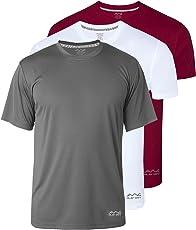 Josh Daniel Men's Dryfit Polyester Round Neck Half Sleeve T-Shirts - Pack of 3