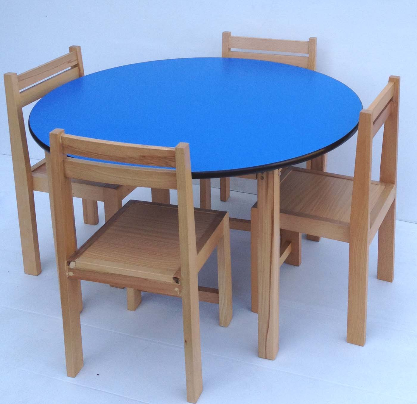 Round school table - Kids Table Chairs Set Beech Wood Round Table And Wooden Stacking Chairs White Amazon Co Uk Kitchen Home