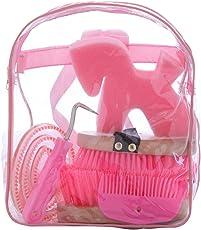 Kerbl Kinderrucksack mit Putzzeug für Das Pferd, Putzrucksack, Putzbox, 6–teilig