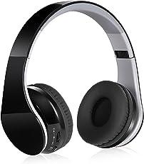 Cuffie Bluetooth Wireless Senza Fili - Cuffia Stereo Headphones Over-Ear Stereo Hi-Fi Pieghevole con Jack Audio da 3,5 mm, con Microfono Riduzione Rumore per IPhone, Android, Pc ed altri Dispositivi Bluetooth
