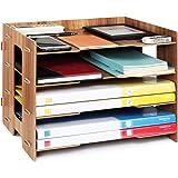 Tonsmile File Sorter A4 Document Desk Tidy Organiser Storage Rack Tray Holder Office Stationery Supplies