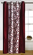 Home Candy Leave Polyester Curtain Set