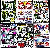 6 bogen Aufkleber Zki selbstklebend Stickers rockstar energy drink BMX moto-cross decals Abziehbilder MX