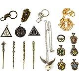 U&X El Paquete Contiene: la Caja Incluye 4 varitas mágicas, 5 Insignias Escolares, 5 Collares, 1 Anillo. 11 Harry Mini PCS Ca
