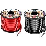 3,3 mm² 12 AWG siliconen elektrische draadhaak-up kabel in totaal 20 meter [10 meter zwart en 10 meter rood] zuurstofvrij bes