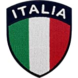 EmbTao Bandiera dello Scudo dell'Italia Termoadesiva Cucibile Ricamata Toppa