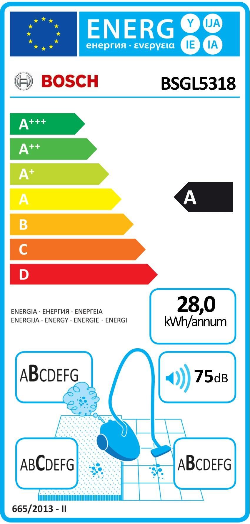 Bosch BSGL5318 Bodenstaubsauger Free'e, mit Beutel, QuattroPower System, PowerProtect System, 15 m Aktionsradius…