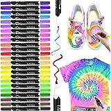 Marcadores textiles, RATEL 24 colores Marcadores de tela y textiles Sin sangrado marcador de tela Permanente y lavable con pu