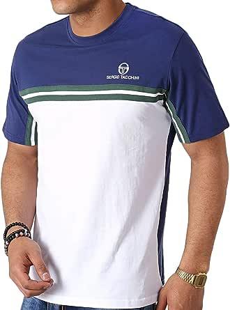 Sergio Tacchini Mens Carey T-Shirt - Blue/White - XS