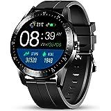 Smartwatch GOKOO Orologio Intelligente Uomo con Cardiofrequenzimetro Monitoraggio della Pressione Sanguigna nel Sonno Orologi
