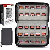 Sisma Custodia rigida per 80 cartucce di gioco Nintendo Switch o Schede SD, Porta giochi con protezione elastica per…