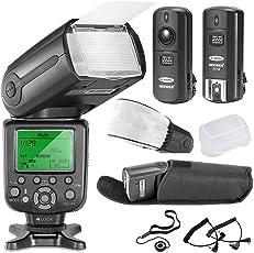 Neewer® 5500K 2.4G Wireless Pro Speedlite NW TT660 II *Deluxe Kit* for Canon Rebel T5i, T4i, T3i, T3, T2i, T1i, XSi, XTi, SL1, EOS 700D, 650D, 600D, 1100D, 550D, 500D, 450D, 400D, 100D, 300D, 60D, 70D Digital SLR Cameras