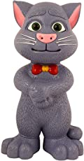 Super Toys Talking Tom Intelligent Touching Cat with Wonderful Voice, Stories and Songs, with Touch Functions (Grey)