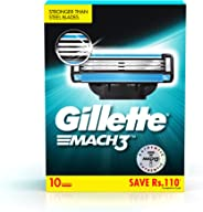 Gillette Mach 3 Shaving Blades- Pack of 10 (Cartridges)