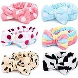 Fascia per spa - Confezione da 6 fasce per capelli Bowknot Fascia per capelli per felpa Coral Fascia elastica per lavaggio La