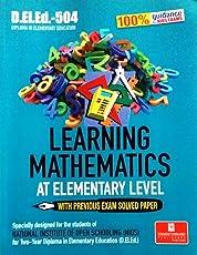 NIOS DELED-504 Learning Mathematics At Elementary Level