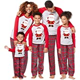 Homebaby Famiglia Pigiama Natale Donna Uomo Neonato Bambino Bambini Manica Lunga Tops + Pantaloni Set Pigiami Famiglia Coordi