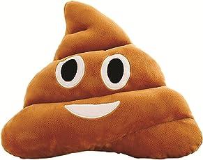 Deals India Smiley Emoji Dark Brown Poop Cushion Pillow Stuffed Plush Toy (35cm)