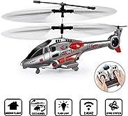 GoStock Helicóptero RC Helicóptero de Control Remoto Interior de 3.5 Canales con Giroscopio y luz LED Radiocontrol Teledirigido Juguete de Avión RC Regalos para Niños y Adultos