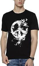 WYO Wear Your Opinion Men's Printed Regular Fit T-Shirt (Peace Bird)