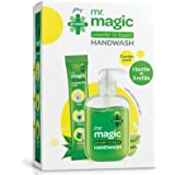 Godrej Protekt Mr. Magic Powder-to-Liquid Germ Protection Handwash Empty Bottle + 3 Refills, 27g(makes 200ml)