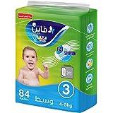 Fine Baby Fast Sorption Super Dry Smart Lock Diapers, Size 3, Mega Pack 84 Pieces, Medium 4-9 kg
