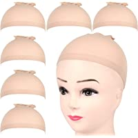 FANDAMEI 6 Stück Perücke Kappen Haarnetz Perücke Set Unterziehhaube Nylon Wig Caps Perückennetz Dehnbare Elastische…