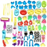 DOITEM Dough Tools, Set de 136 Pcs Smart Clay Dough Tools Cutters Formes Animales Moules Expression, Couleurs Assorties